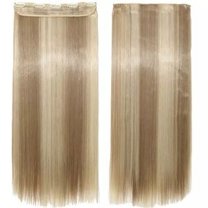 "26"" LONG STRAIGHT BLONDE CLIP IN HAIR EXTENSIONS"